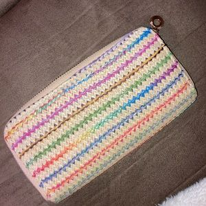 Brand new woven wallet that matches everything!